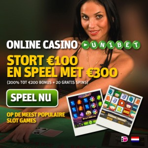 Unibet casino kraslot actie